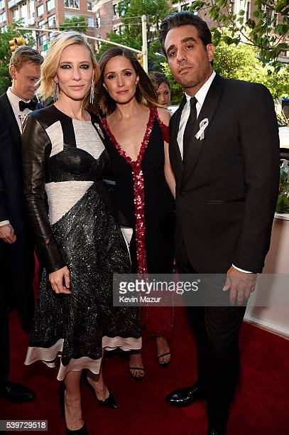Actors Cate Blanchett Bobby Cannavale and Rose Byrne attend the 70th Annual Tony Awards at The Beacon Theatre on June 12 2016 in New York City