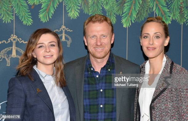 Actors Caterina Scorsone Kevin McKidd and Kim Raver attend the Brooks Brothers holiday celebration with St Jude Children's Research Hospital at...