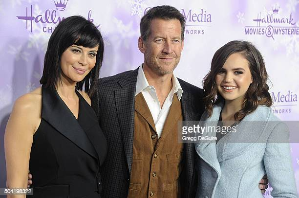 Actors Catherine Bell James Denton and Bailee Madison arrive at the Hallmark Channel and Hallmark Movies and Mysteries Winter 2016 TCA Press Tour at...