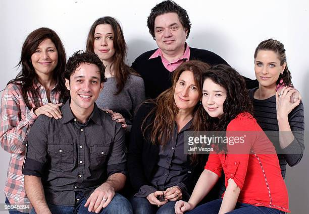 Actors Catherine Keener Thomas Ian Nicholas Rebecca Hall Oliver Platt director Nicole Holofcener actors Sarah Steele and Amanda Peet pose for a...