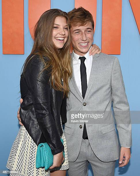 Actors Catherine Missal and Skyler Gisondo attend the premiere of Warner Bros Pictures Vacation at Regency Village Theatre on July 27 2015 in...