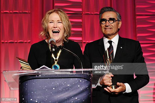 Actors Catherine O'Hara and Eugene Levy attend the 3rd Annual 'An Evening With Canada's Stars' at the Four Seasons Hotel Los Angeles on February 25...
