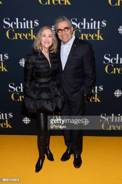Actors Catherine O'Hara and Eugene Levy attend the Schitt's Creek Season 4 premiere at TIFF Bell Lightbox on January 9 2018 in Toronto Canada