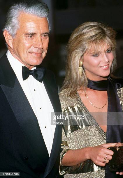 Actors Catherine Oxenberg and John Forsythe from the television soap 'Dynasty' circa 1988