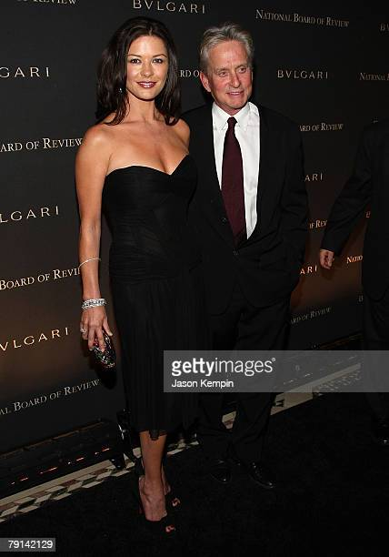 Actors Catherine Zeta Jones and Michael Douglas attend the 2007 National Board of Review of Motion Pictures Annual Awards Gala at Cipriani 42nd...