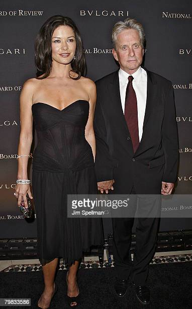 Actors Catherine ZetaJones and Michael Douglas arrive at the 2007 National Board of Review of Motion Pictures Awards Gala at Cipriani's 42nd Street...
