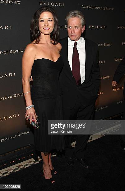 Actors Catherine ZetaJones and Michael Douglas attend the 2007 National Board of Review of Motion Pictures Annual Awards Gala at Cipriani 42nd Street...