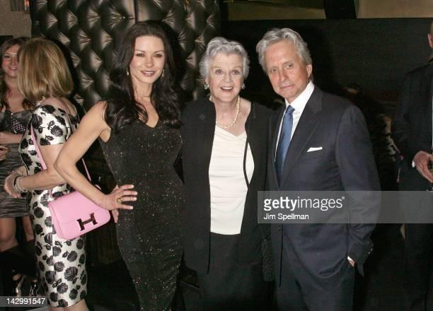 Actors Catherine ZetaJones Angela Lansbury and Michael Douglas attend the 12th annual Monte Cristo Award presentation at The Edison Ballroom on April...