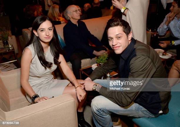 Actors Cazzie David and Pete Davidson attend NRDC STAND UP for the planet 2017 on April 25 2017 in Beverly Hills California