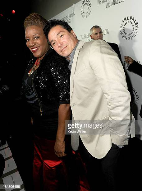 Actors CCH Pounder and Benito Martinez arrive at The Paley Center for Media's 2013 benefit gala honoring FX Networks with the Paley Prize for...