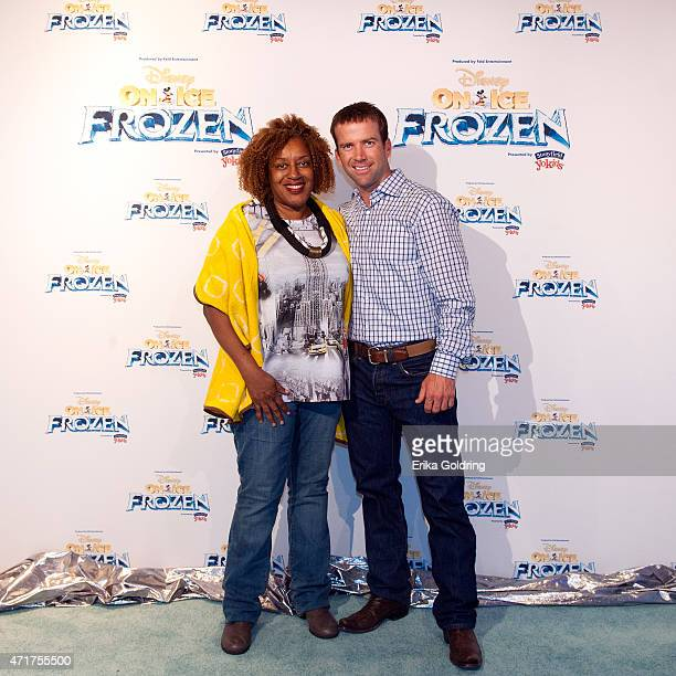 Actors CCH Pounder and Lucas Black attend Disney On Ice presents Frozen Presented by Stonyfield YoKids Organic Yougurt at UNO Lakefront Arena on...