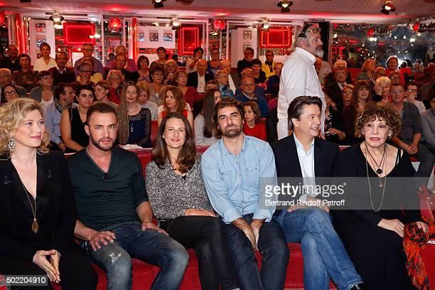 Actors Cecile Bois and Raphael Lenglet present the TV Series 'Candice Renoir' Actress Camille Cottin Actors Gregory Montel Thibault de Montalembert...