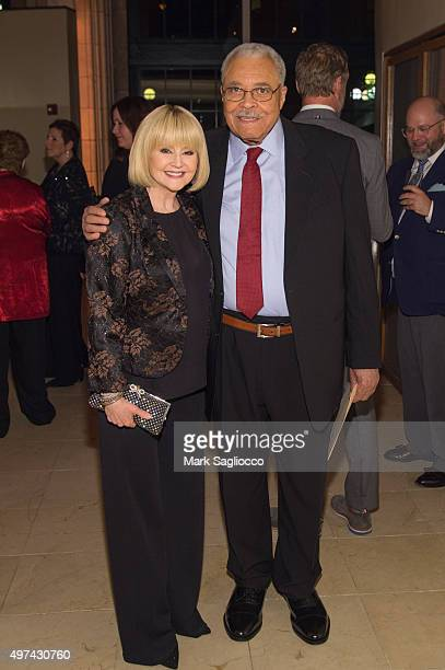 Actors Cecilia Hart and James Earl Jones attend the 24th Annual Oscar Hammerstein Award Gala at Gustavino's on November 16 2015 in New York City