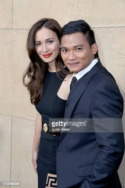 Actors Celina Jade and Tony Jaa attend 'Skin Trade' Los Angeles Premiere at the Egyptian Theatre on May 6 2015 in Hollywood California