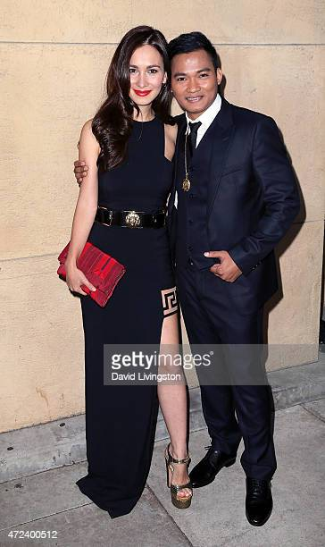 Actors Celina Jade and Tony Jaa attend the premiere of 'Skin Trade' at the Egyptian Theatre on May 6 2015 in Hollywood California