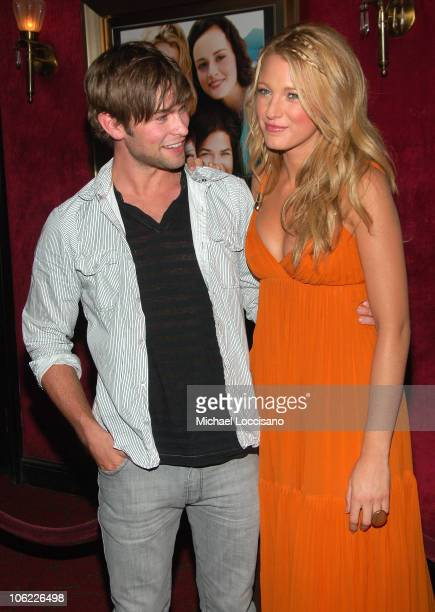 Actors Chace Crawford and Blake Lively attend the premiere of The Sisterhood of the Traveling Pants 2 at the Ziegfeld Theatre on July 28 2008 in New...