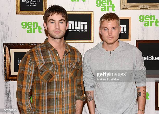 Actors Chace Crawford and Toby Hemingway attend the 17th Annual GenArt Film Festival Premiere of The Silent Thief at School of Visual Arts Theater on...