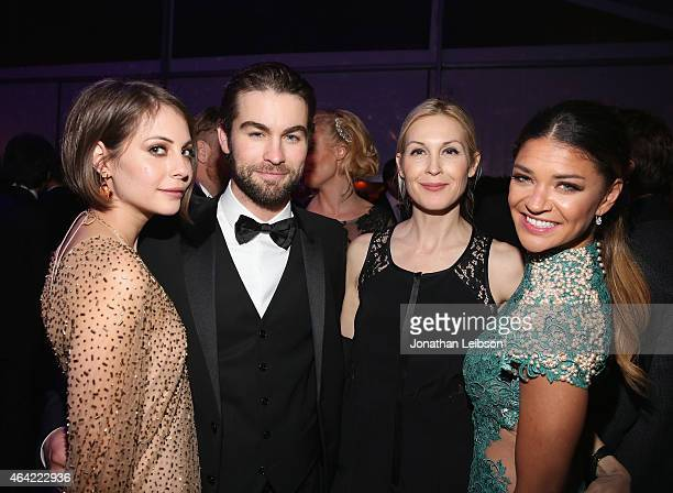 Actors Chace Crawford Kelly Rutherford and Jessica Szohr attendROCA PATRON TEQUILA at the 23rd Annual Elton John AIDS Foundation Academy Awards...