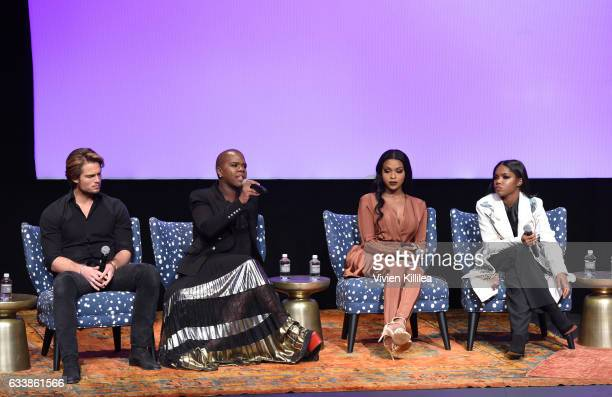 Actors Chad James Buchanan Miss Lawrence Amiyah Scott and Ryan Destiny speak on stage during QA for 'Star' on Day Three of aTVfest 2017 presented by...