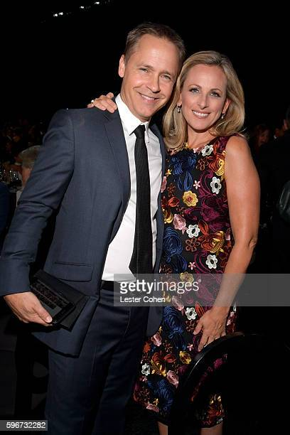 Actors Chad Lowe and Marlee Matlin attend The Comedy Central Roast of Rob Lowe at Sony Studios on August 27 2016 in Los Angeles California The Comedy...