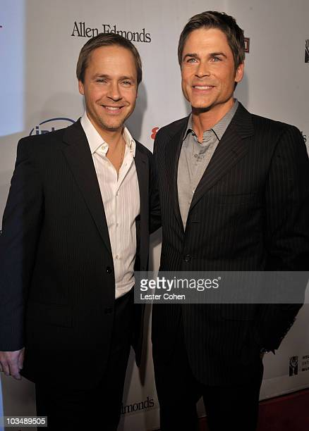 Actors Chad Lowe and Rob Lowe arrive at Hollywood Entertainment Museum Honors The Cast Of Heroes held at the Esquire House on November 1 2008 in Los...