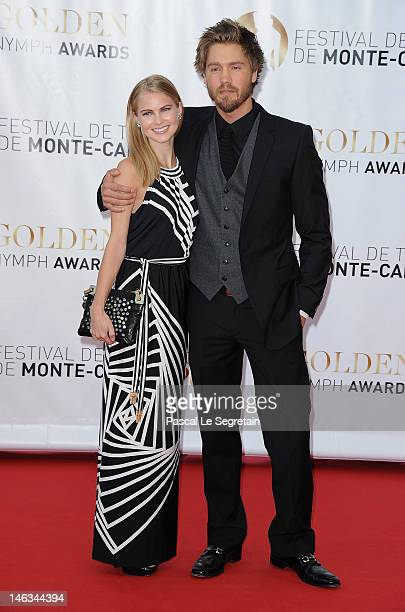 Actors Chad Michael Murray and Kenzie Dalton arrive at the Closing Ceremony of the 52nd Monte Carlo TV Festival on June 14 2012 in MonteCarlo Monaco