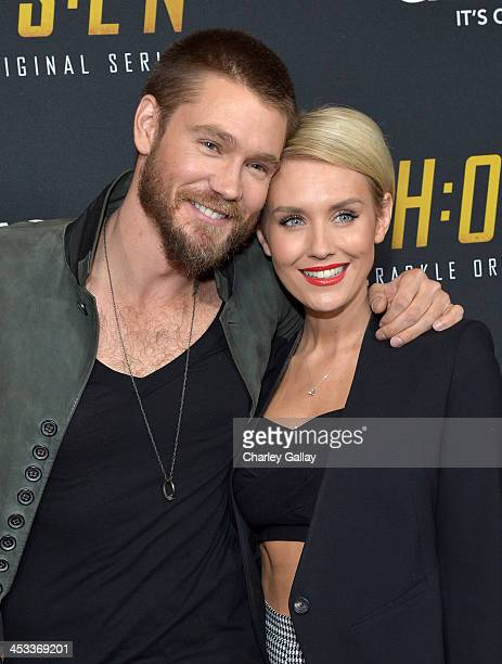 Actors Chad Michael Murray and Nicky Whelan attend Crackle's Chosen season 2 premiere screening at The Grove on December 3 2013 in Los Angeles...