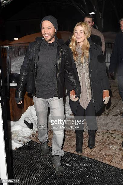 Actors Chad Michael Murray and Sarah Roemer attend the 'Outlaws Angels' Premiere during the 2016 Sundance Film Festival at Library Center Theater on...