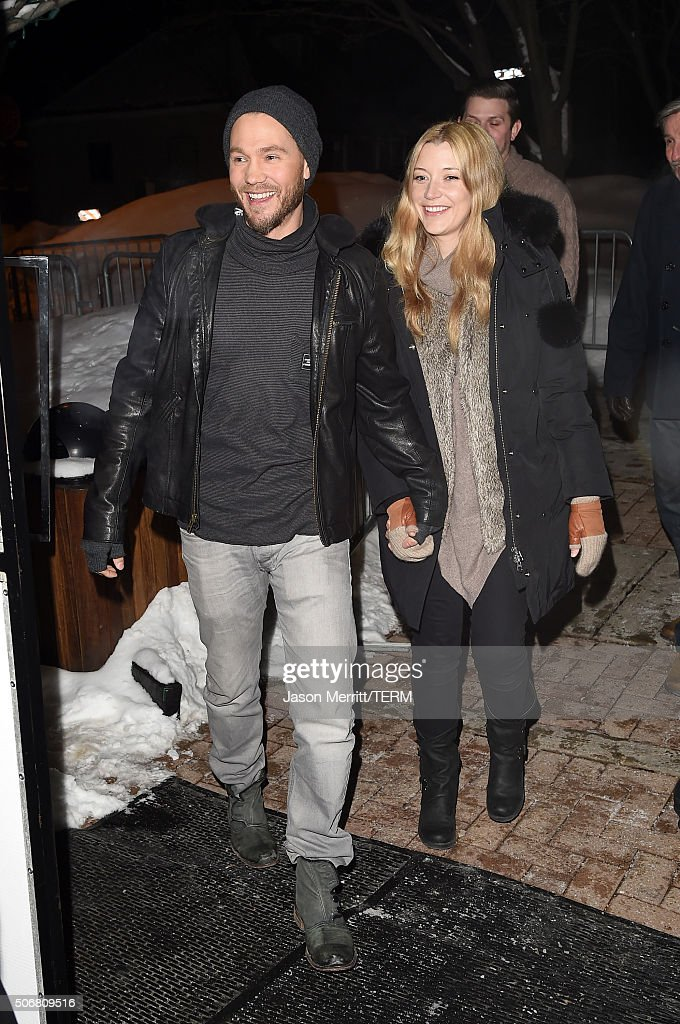 Actors Chad Michael Murray (L) and Sarah Roemer attend the 'Outlaws & Angels' Premiere during the 2016 Sundance Film Festival at Library Center Theater on January 25, 2016 in Park City, Utah.