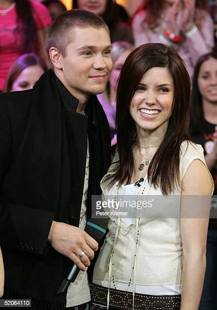 Actors Chad Michael Murray and Sophia Bush from 'One Tree Hill' make an appearance on MTV's Total Request Live January 25 2005 in New York City