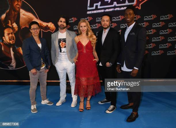 Actors Cha-Lee Yoon, Can Aydin, Julia Dietze, Phong Giang and Eugene Boateng seen at Cubix Alexanderplatz on May 29, 2017 in Berlin, Germany.