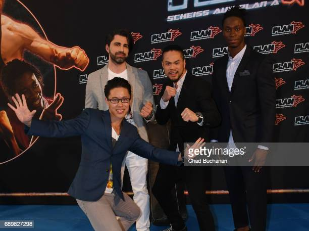 Actors Cha-Lee Yoon, Can Aydin, Phong Giang and Eugene Boateng seen at Cubix Alexanderplatz on May 29, 2017 in Berlin, Germany.