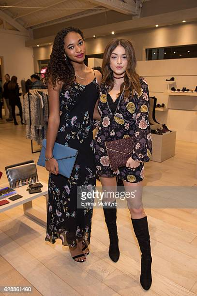 Actors Chandler Kinney and Luna Blaise attend 'Rebecca Minkoff x Megan Batoon' at Rebecca Minkoff on December 9 2016 in Los Angeles California