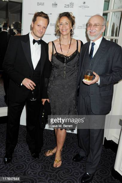 Actors Chandler Williams Janet McTeer and Michael Rudko attend an after party following press night of The Old Vic's production of Richard III...