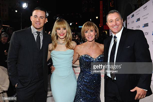 Actors Channig Tatum and Rachel McAdams pose with Krickitt and Kim Carpenter at the premiere of Sony Pictures' 'The Vow' at Grauman's Chinese Theatre...