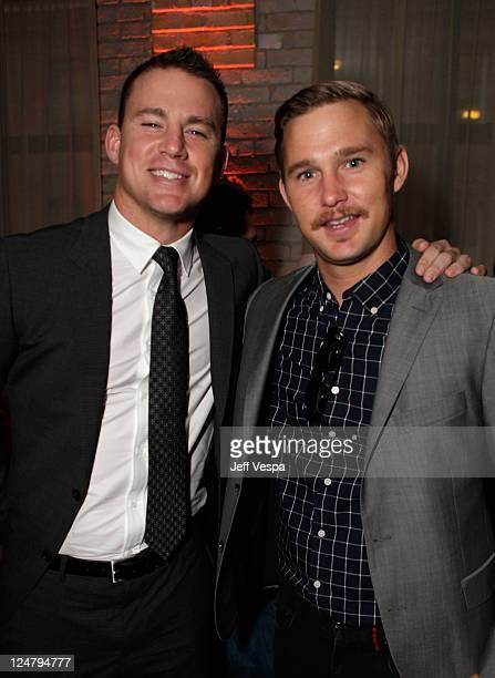 Actors Channing Tatum and Brian Geraghty attend the 'Ten Year' dinner hosted by GREY GOOSE Vodka at Soho House Pop Up Club during the 2011 Toronto...