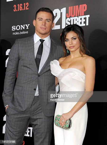 Actors Channing Tatum and Jenna Dewan arrive at the premiere of Columbia Pictures' '21 Jump Street' at Grauman's Chinese Theatre on March 13 2012 in...
