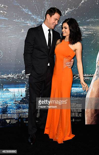 Actors Channing Tatum and Jenna Dewan arrive at the Premiere of Warner Bros Pictures' Jupiter Ascending at TCL Chinese Theatre on February 2 2015 in...