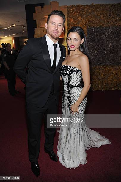 Actors Channing Tatum and Jenna Dewan attend the 2014 InStyle And Warner Bros. 71st Annual Golden Globe Awards Post-Party at The Beverly Hilton Hotel...