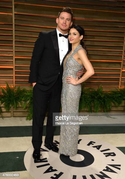 Actors Channing Tatum and Jenna Dewan attend the 2014 Vanity Fair Oscar Party hosted by Graydon Carter on March 2 2014 in West Hollywood California