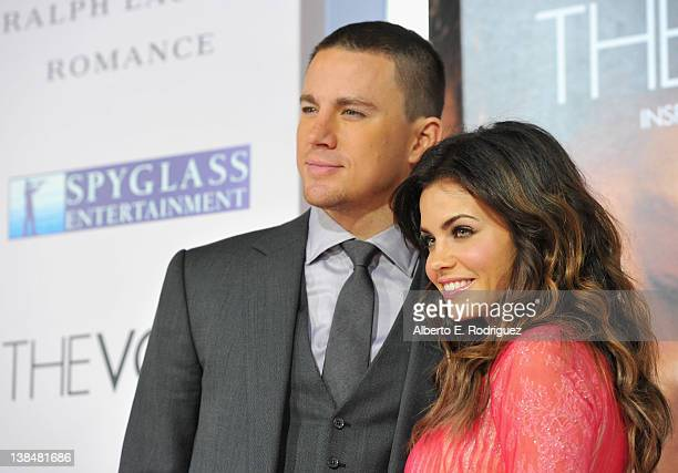 Actors Channing Tatum and Jenna Dewan attend the premiere of Sony Pictures' 'The Vow' at Grauman's Chinese Theatre on February 6 2012 in Hollywood...