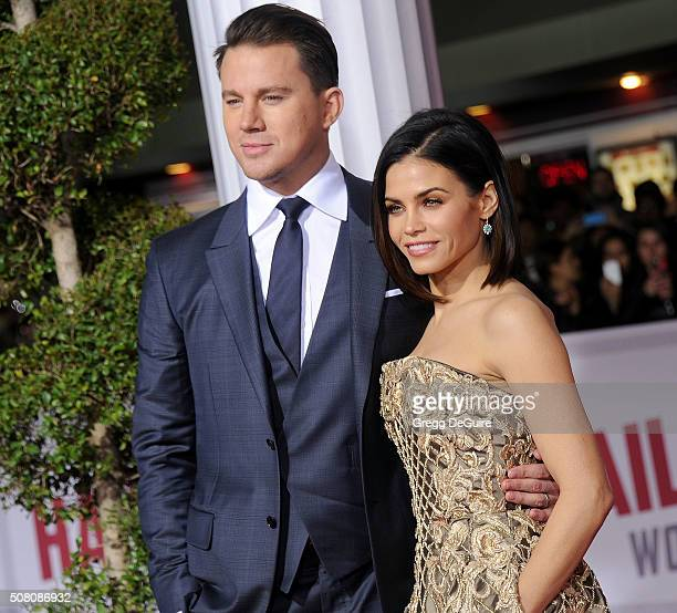Actors Channing Tatum and Jenna Dewan Tatum arrive at the premiere of Universal Pictures' 'Hail Caesar' at Regency Village Theatre on February 1 2016...