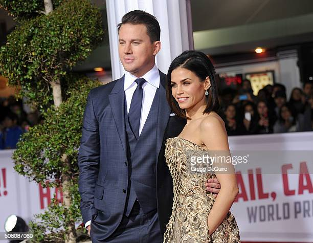 Actors Channing Tatum and Jenna Dewan Tatum arrive at the premiere of Universal Pictures' Hail Caesar at Regency Village Theatre on February 1 2016...