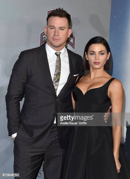 Actors Channing Tatum and Jenna Dewan Tatum arrive at the premiere of 'War Dog A Soldier's Best Friend' at Directors Guild of America on November 6...