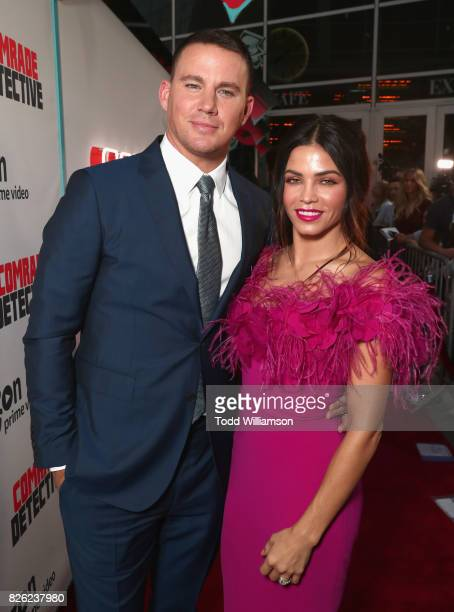 """Actors Channing Tatum and Jenna Dewan Tatum attend Amazon Prime Video Premiere Of Original Comedy Series """"Comrade Detective"""" In Los Angeles on August..."""