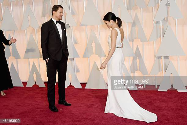 Actors Channing Tatum and Jenna Dewan Tatum attend the 87th Annual Academy Awards at Hollywood Highland Center on February 22 2015 in Hollywood...