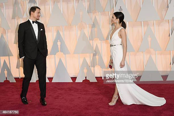 Actors Channing Tatum and Jenna Dewan Tatum attend the 87th Annual Academy Awards at Hollywood & Highland Center on February 22, 2015 in Hollywood,...