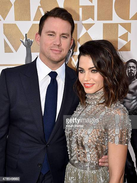 Actors Channing Tatum and Jenna Dewan Tatum attend the premiere of Warner Bros Pictures' 'Magic Mike XXL' at TCL Chinese Theatre IMAX on June 25 2015...