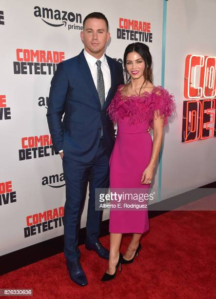 Actors Channing Tatum and Jenna Dewan Tatum attend the premiere of Amazon's 'Comrade Detective' at ArcLight Hollywood on August 3 2017 in Hollywood...