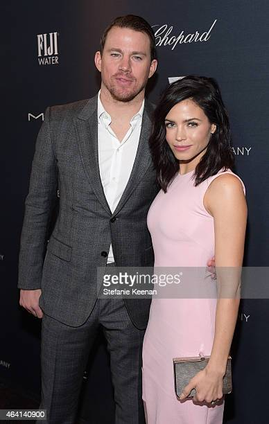 Actors Channing Tatum and Jenna Dewan Tatum attend The Weinstein Company's Academy Awards Nominees Dinner in partnership with Chopard DeLeon Tequila...